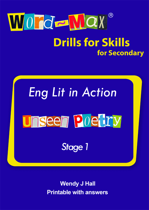 Word-Max | Eng lit in Action - Unseen Poetry - Stage 1