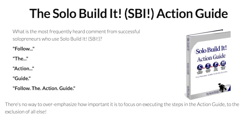 The Solo Build It! (SBI!) Action Guide