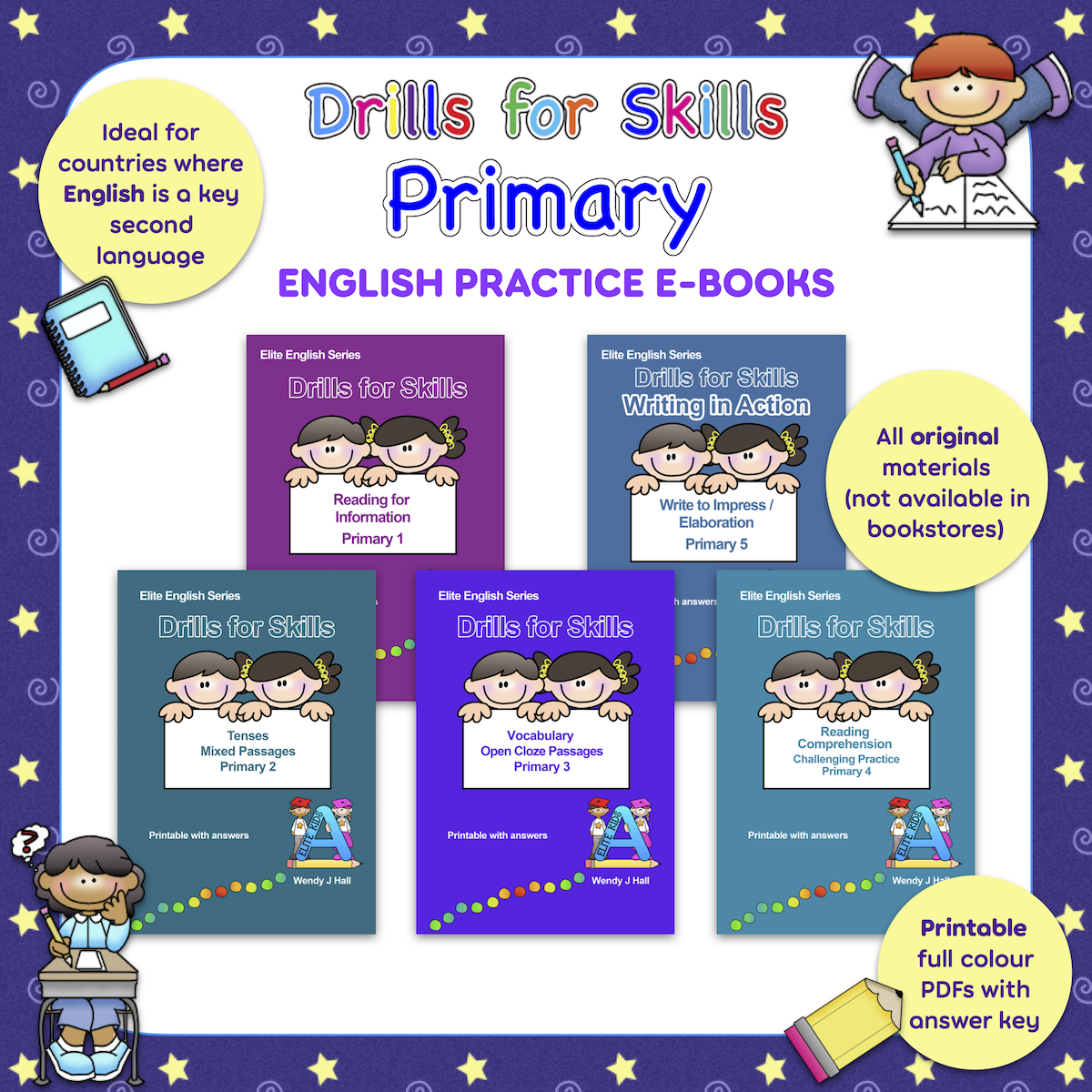 Drills for Skills - Primary English Practice E-books