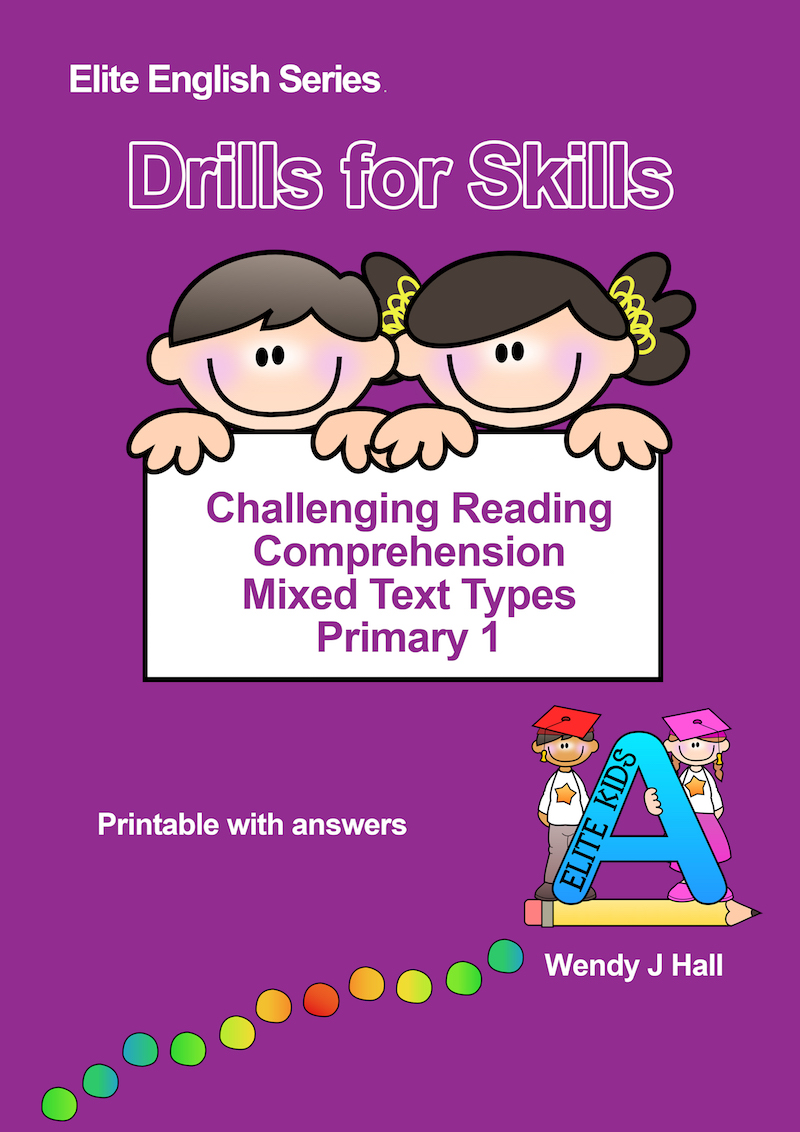 Drills for Skills - Challenging Reading Comprehension | Primary 1