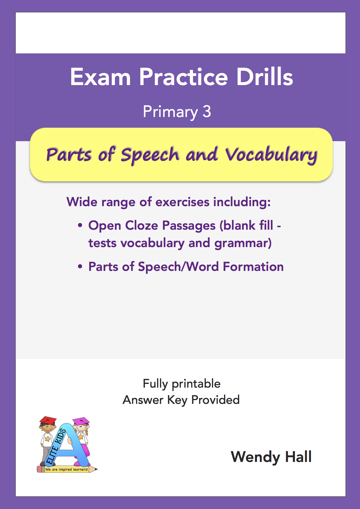 Elite Kids | Exam Practice Drills - Parts of speech and Vocabulary - Primary 3