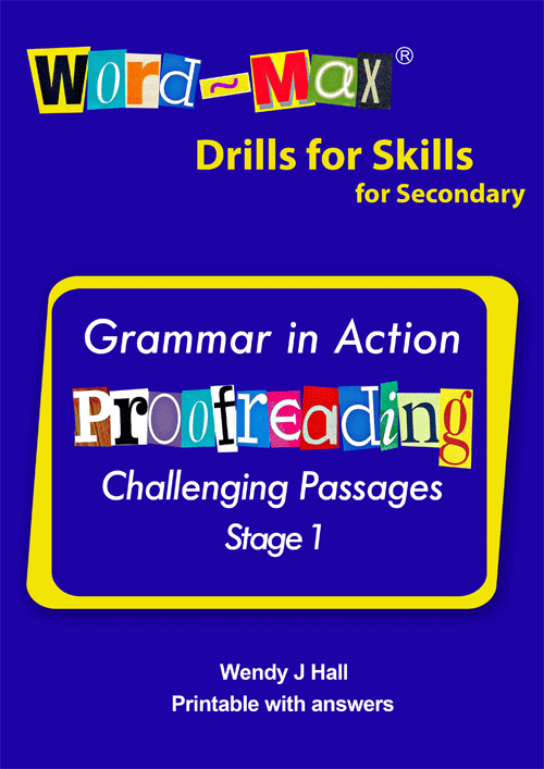 Word-Max | Drills for Skills for Secondary - Proofreading - Stage 1