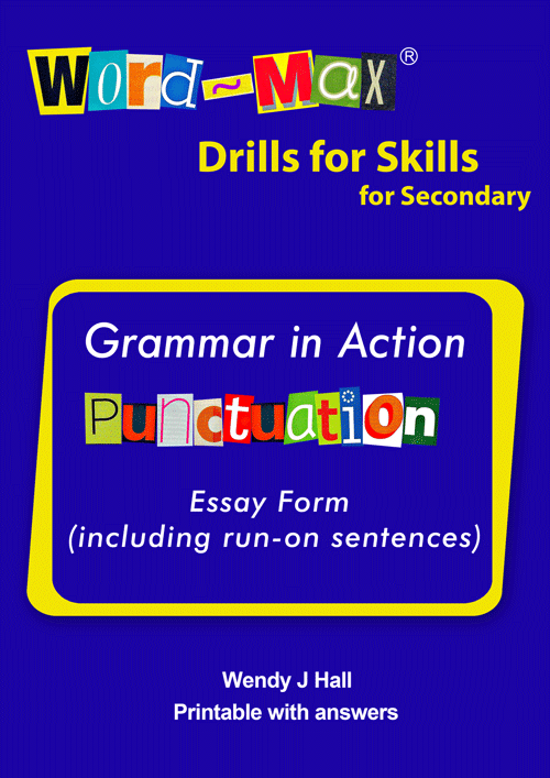 Word-Max | Drills for Skills for Secondary - Punctuation