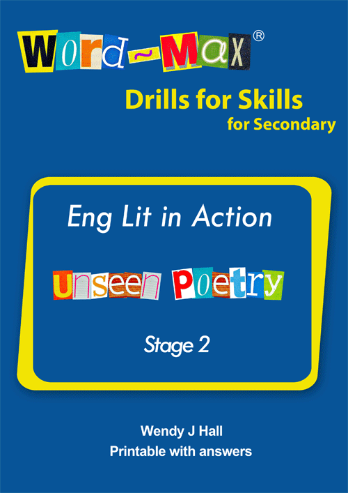Word-Max | Eng lit in Action - Unseen Poetry - Stage 2