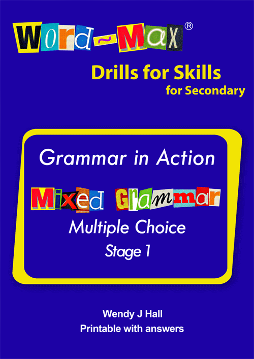 Word-Max | Drills for Skills for Secondary - Mixed Grammars