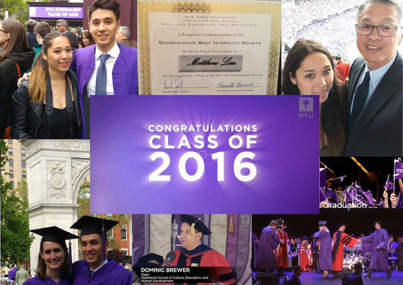 Wendy Lau's sons graduation collage