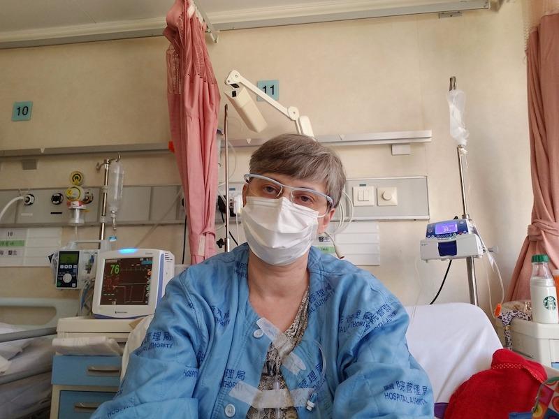 Wendy Lau in Princess Margaret Hospital, Hong Kong